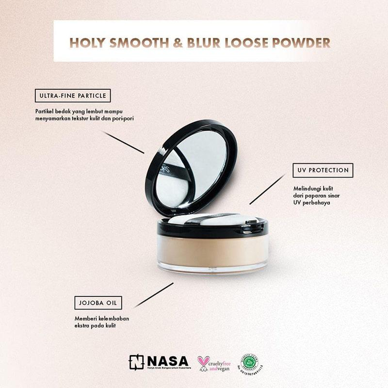 Looke Holy Smooth & Blur Loose Powder nasa